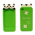 Super Cute Panda iPhone case (green)