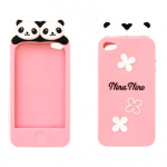 Super cute panda iPhone 4 / 4S case (pink)