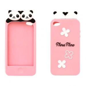 Super cute panda iPhone 4 / 4S case (pink)
