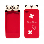 Super Cute Panda iPhone case (red)