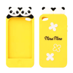 Super cute panda iPhone 4 / 4S case (yellow)