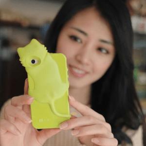 Girl with kiki iPhone case (green)