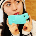 Girl with kiki iPhone case (mint)