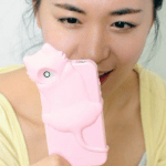 Girl with kiki iPhone case (pink)