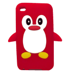 Cute Penguin iPod Touch case (red)