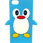 Cute Penguin iPhone 5 case (blue)