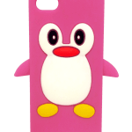 Cute Penguin iPhone 5 case (pink)
