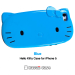 Hello Kitty head iPhone 5 case (All Blue)