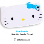 Hello Kitty head iPhone 5 case (Blue bowtie)
