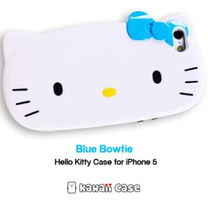 Hello Kitty head iPhone 5 case (Blue bowtie)