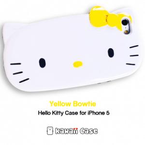Hello Kitty head iPhone 5 case (Yellow bowtie)