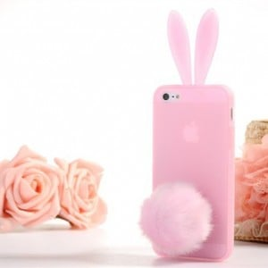 Bunny Ears iPhone 5 case - Transparent Pink