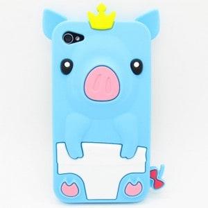 iphone 4 light blue Pig