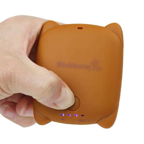 ... portable battery pack charger iphone samsung phone mobile in hand