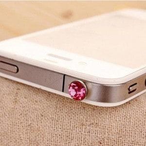 crystal diamond jewel ear phone dust plug
