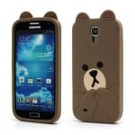 cute line brown bear case for samsung galaxy s4 iv