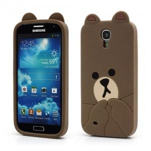 cute line brown bear case for samsung galaxy s4 iv