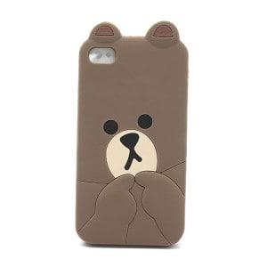 cute line brown bear iphone 4 case 2