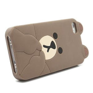 cute line brown bear iphone 4 case 3