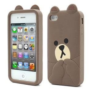 cute line brown bear iphone 4 case
