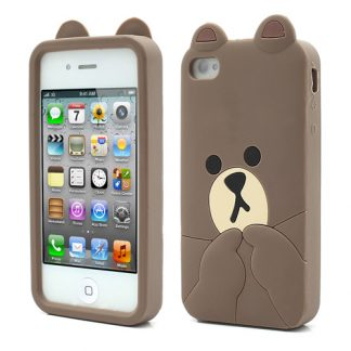 cute line brown bear iphone 4 case