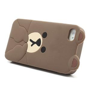 cute line brown bear iphone 4 case 4