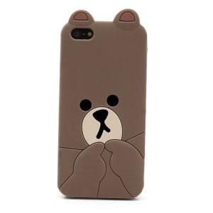 cute line brown bear iphone 5 case 2
