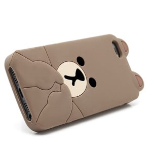 cute line brown bear iphone 5 case 3