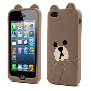cute phone cases for iphone 5s brown iphone 4 5 iphone cases kawaii 2434