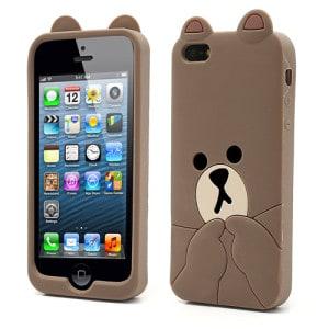 cute line brown bear iphone 5 case