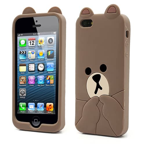 kawaii iphone 5 case brown iphone 4 5 kawaii 15599