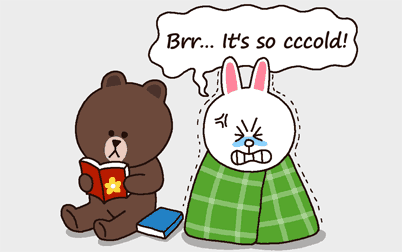 cony rabbit and brown bear LINE