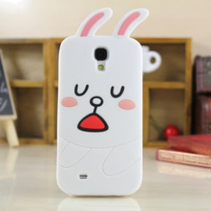 cute line cony rabbit galaxy s4 case front