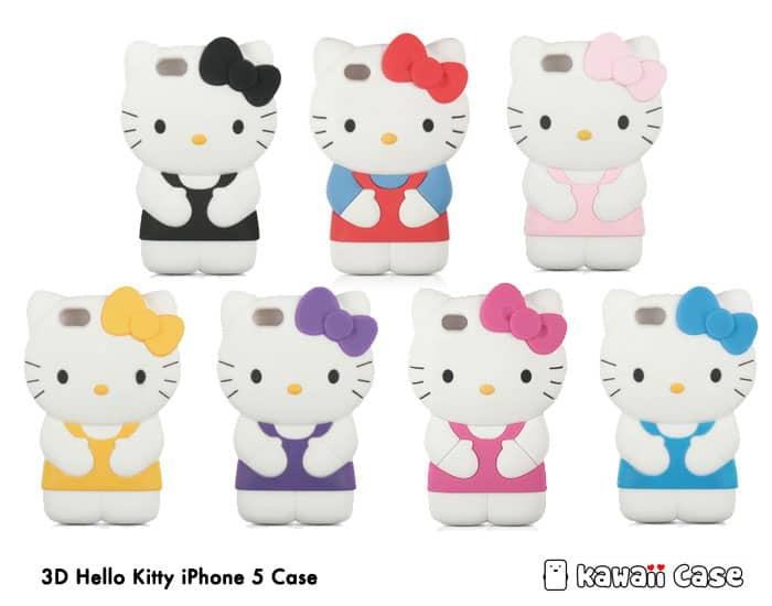 3D Hello Kitty iPhone 5 Case - Kawaii Case