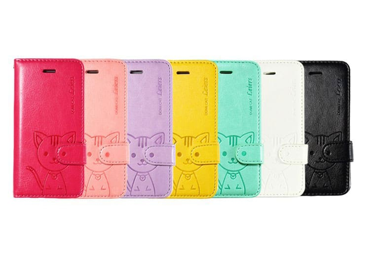 Cute Cat Flip Wallet Case / Cover for iPhone 5C - Kawaii Case