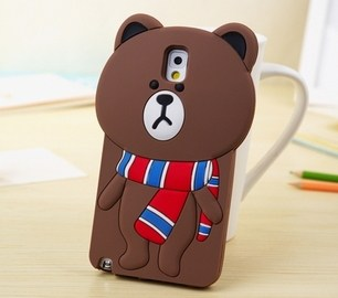 line brown bear samsung galaxy note 3 case