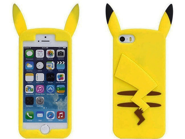 Cute pikachu iphone 6 6 plus case front back