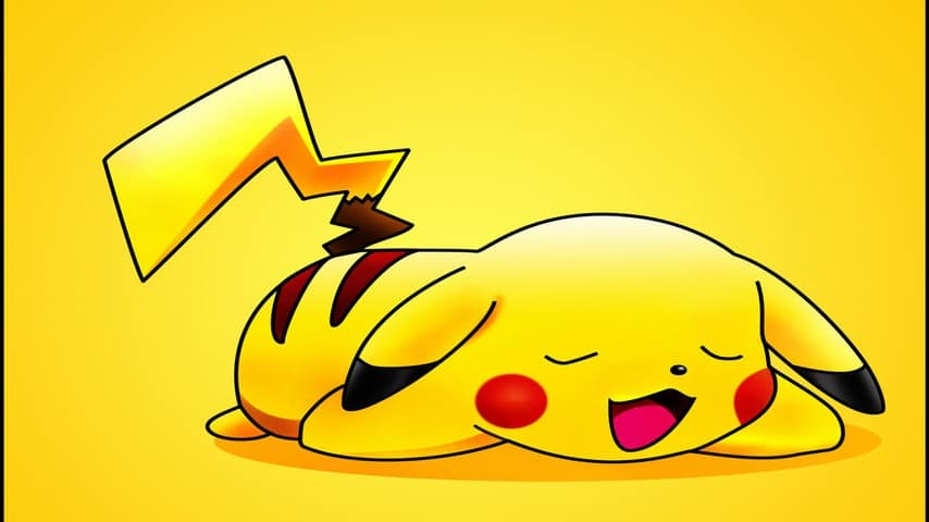 cute pikachu sleeping