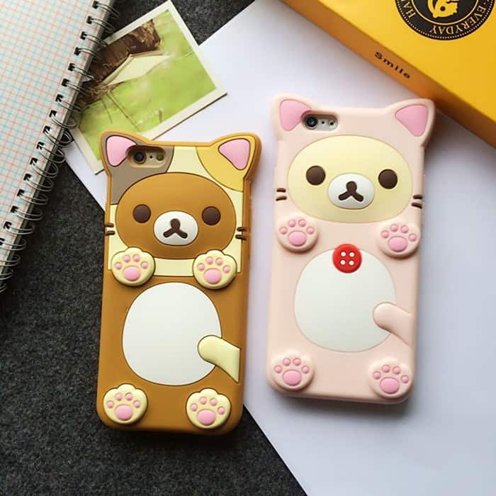 separation shoes a9262 e026a Rilakkuma Cat iPhone Case - iPhone 7 Plus - Kawaii Case