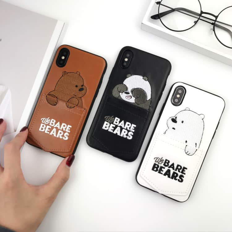 best service 2df3e 9e6a1 Bare Bears Pouch iPhone Case - iPhone 7 Plus - Kawaii Case