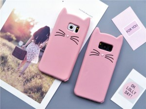 cat kitty whiskers kawaii cute samsung galaxy case