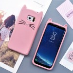 cat kitty whiskers kawaii cute samsung galaxy case s6 s7 s8 s9