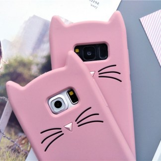 cat kitty whiskers kawaii cute samsung galaxy case s6 s7 s8 s9 feature 3