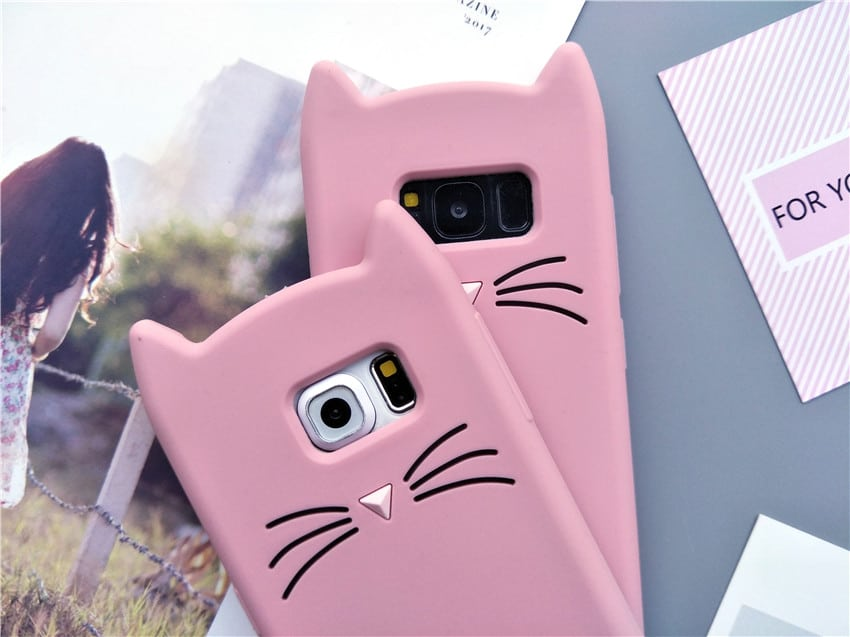 d5885462ef cat kitty whiskers kawaii cute samsung galaxy case s6 s7 s8 s9 feature 3
