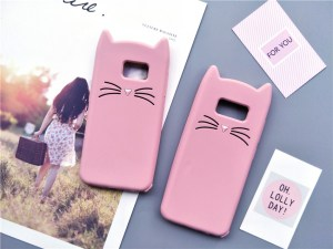 cat kitty whiskers kawaii cute samsung galaxy case s6 s7 s8 s9 feature