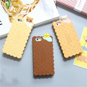 cookie biscuit cute kawaii rilakkuma iphone case