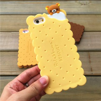 cookie biscuit cute kawaii rilakkuma iphone case feature