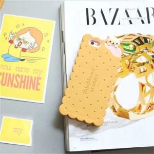 cookie biscuit cute kawaii rilakkuma iphone case korilakkuma