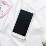 kawaii cute simple heart iphone case 5 6 7 8 X black front