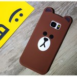 line brown bear kawaii cute samsung case 2